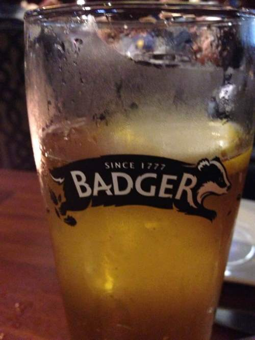 Beer Glass in Bermuda Pub ? Badger ? 2017