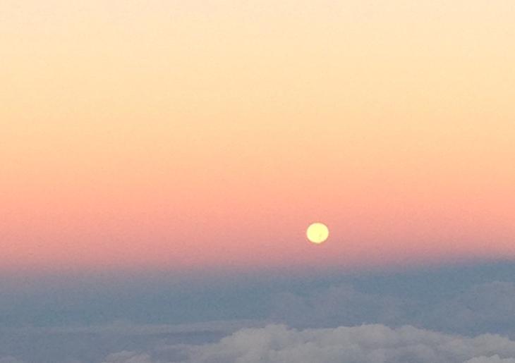 Moon Set Christmas Day 2015