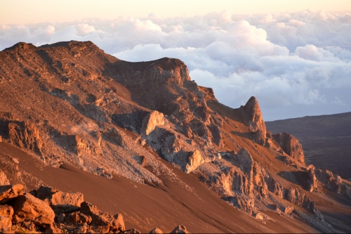 Haleakala Crater 2015, Christmas Day right after Sunrise