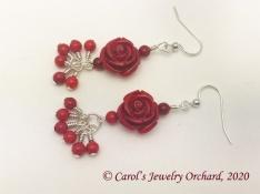 redflowerearrings